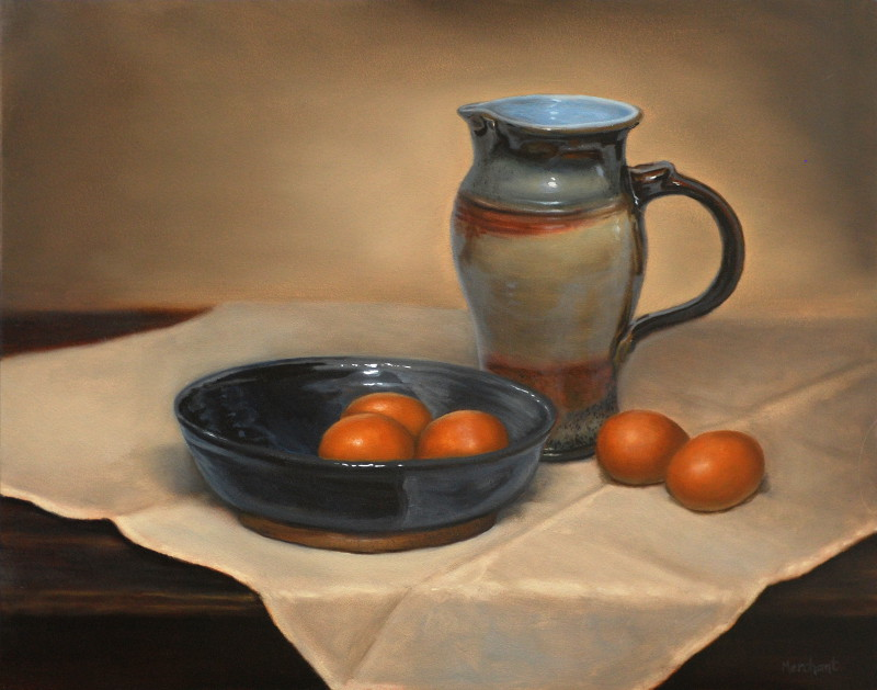 Eggas and Pitcher, Oil, 2012.