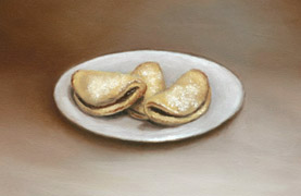 Cream Cheese Cookies, Oil on Panel, 2007.