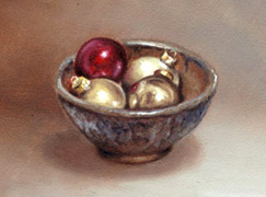 Bowl of Ornaments, Oil on Panel, 2007.