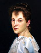 Study of Bouguereau - Portrait of Gabrielle Cot, Oil on Panel, 11x14, 2009.
