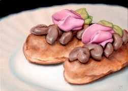A Pair of Eclairs, Oil on Panel, 2011.