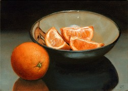 Bowl of Oranges, Oil on Panel, 2011.