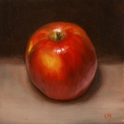 Braeburn Apple, Oil on Panel, 2012.