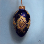 Purple Filigree Ornament, Oil on Panel, 2013.