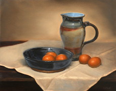 Eggs and Pitcher, Oil on Panel, 11x14, 2012.