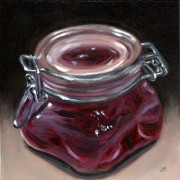 Plum Candle, Oil on Panel, 2012.