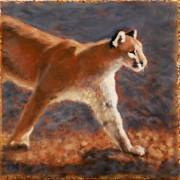 Cougar, Oil on Stone, 2013.