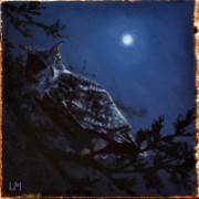 Night Owl, Oil on Stone, 2013.