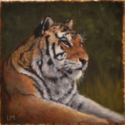 Tiger, Oil on Stone, 2013.